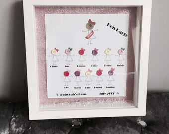 Personalised 'Hen Party' Print with Frame