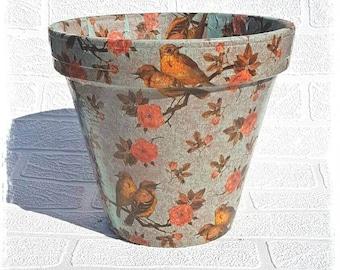Indoor planter, plant pot, herb planter, utensils pot, herb pot, terracotta pot, planter, flower pot, Orchid pot, flower planter, clay pot