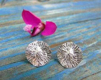 Sterling Silver earrings. Silver Jewellery. Earrings silver patina finish. Silver jewelry.