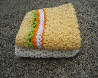 Dishcloth, Cotton Crochet Dishcloth, Washcloth,Cleaning Cloth