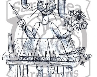 Easter bunny florist Greeting Card