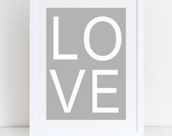 Love Print- Home Sign, Home Print, Love Print, Home Decor