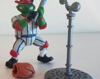 Ralph Baseball Bashin Batter Teenage Mutant Ninja Turtles TMNT  action figure complete 1991