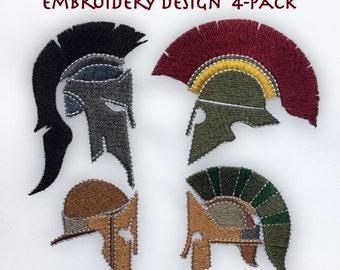 Spartan Helmet Embroidery Designs