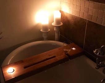 Solid Oak Bath Bar