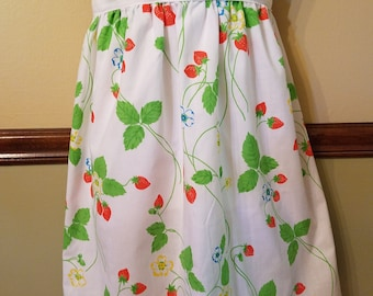 Upcycled Woman's half apron,Retro Kitchen Apron, Vintage Fabric Apron, Aprons,Half Apron
