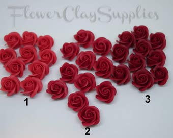 10pcs Tiny Rose bead 0,39 inch  Red, Light and Dark Red  Roses Flower bead Supplies For manual labor Jewelry macking Small rose bead