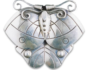 Spratling Sterling Silver Butterfly Brooch