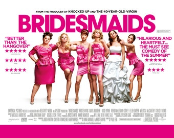 Bridesmaids - Bridesmaids Movie - Bridesmaids Movie Poster - Bridesmaids Print - Brides Maids (JS00133)