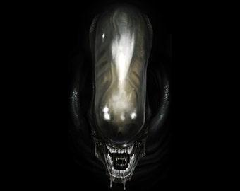 Alien, Alien Movie, Alien Art, Alien Print, Alien Art, Wall Art, Decor, Sci-Fi  - 8x10 - 11x14 - 16x20  (JS000502)