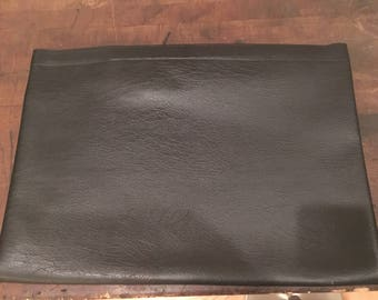 Black Leather Envelope Bag