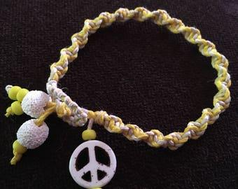 Hippie bracelet, hemp bracelet, essential oils diffise bracelt