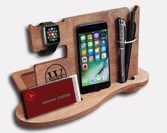 Personalized Gift for men, gifts ideas for men, Gift for dad, Gift for him, charging dock, iPhone docking station, iphone dock