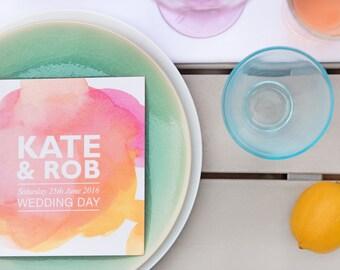 Brighton | Wedding Invitations | Sample Pack | Watercolour Wedding Invites | Colourful Wedding Stationery | Modern Wedding Invitations