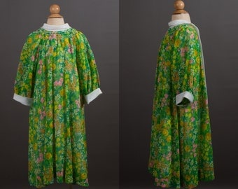 vintage 1960s Polly Flinders floral girl's dress