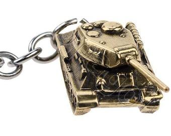 Keychain Tank Т-34/85, bronze