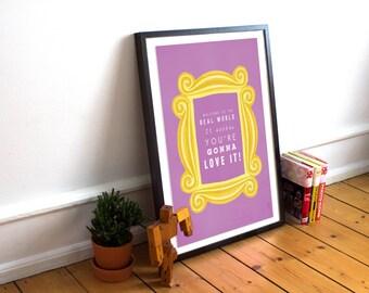 Friends - Tv Show | Sitcom | Poster| Art | Print - Real World