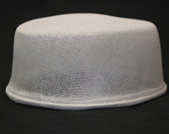 Low cap Buckram form, millinery bucherame, top of hat ready to use, hattery buckram form, form for making hat, raw fiber form for hat