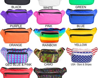 Fanny Pack Solid and Multi Colored with Unique Designs by SoJourner Bags (multiple colors & variations)  **FREE SHIPPING*