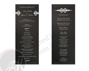 Double Sided Wedding Program