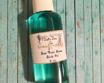 Sun Your Buns Bath Oil natural bath oil