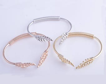Bracelet cuff, leaf bracelet, branch bracelet, 14K gold bracelet,rose gold bracelet,rhodium bracelet, bridesmaid bracelet, bride bracelet