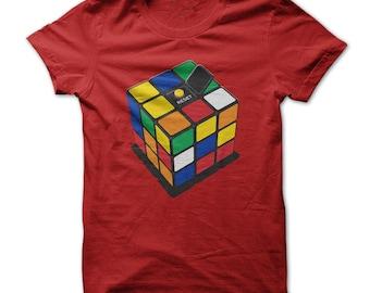 RUBIK'S CUBE T-SHIRT.rubiks cube tee,rubiks cube t-shirt,geeks t-shirt gift,rubiks cube gift t-shirt,rubiks cube fans tee,rubiks cube tees