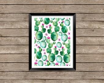 Watercolor Cacti print