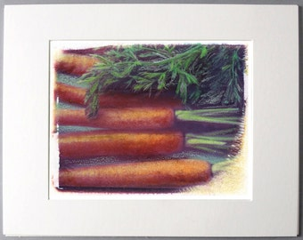 Carrot Polaroid Transfer 8x10 Print
