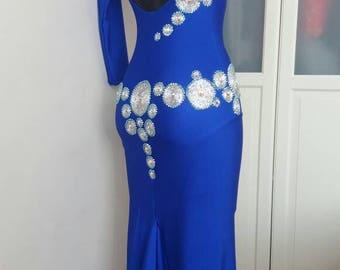 Deep blue Latin Dance Dress