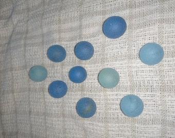 "Vintage tumbled ""Sea Glass"" marbles"