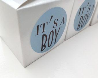 It's a boy stickers, It's a boy favour labels, baby shower favour stickers, boy baby shower, shower favour labels, 044