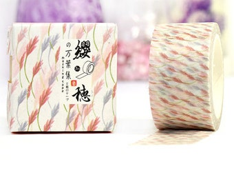 WHEAT Japanese Washi Tape, Masking Tape, Planner Stickers,Crafting Supplies,Scraping Booking,Adhesive Tape,Deco Tape,Floral Washi Tape