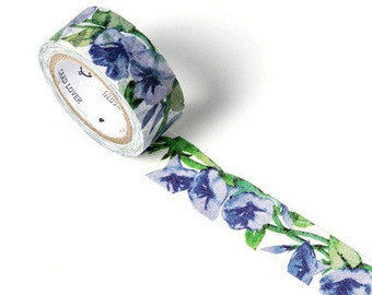 BLUE PARSLEY Japanese Washi Tape, Masking Tape, Planner Stickers,Crafting Supplies,Scraping Booking,Adhesive Tape,Floral Washi Tape