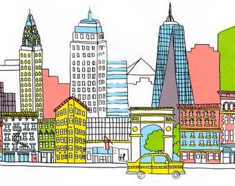 NYC Silkscreen Print