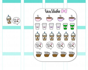 Doodle Set - Coffee is LIFE Planner Stickers |VSD 003