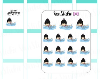 Chibit -Swimming Planner Stickers | VSC 035