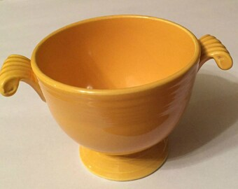 Vintage Fiesta Original Yellow Sugar Bowl  with no lid