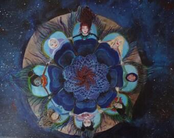 The Circle Of Women ~ Original Artwork a3