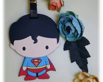 Superman Luggage Tag