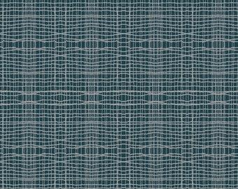Dark grey fabric, Quilting fabric by inprint Jane Makower - Stitch check, 100% cotton 44 inch wide, dark grey checked fabric