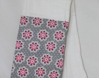 Floral Burp Rag
