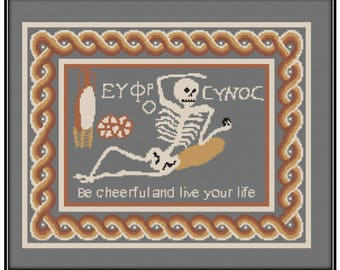 Skeleton Mosaic (PDF) Cross Stitch pattern