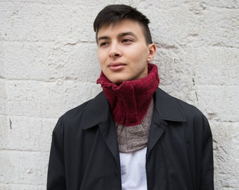 "Merino Knit, hand-made Cowl ""Tolstoy"""