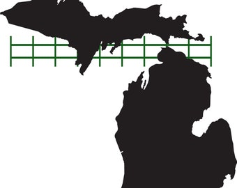 Custom 24 x 24 - Michigan metal artwork featuring original grating from the Mackinac Bridge