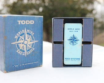 SALE! 25% discount. Todd World-Wide Travel Raz-A-Dapta Electric Power Adapter Model 900B, VIntage 1960's