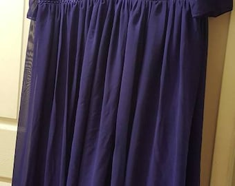Plus size prom dress, purple xxl bridesmaid dress ,evening gown size 22, vintage party dress
