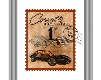 Corvette Stingray stamp 'Hall of Fame'