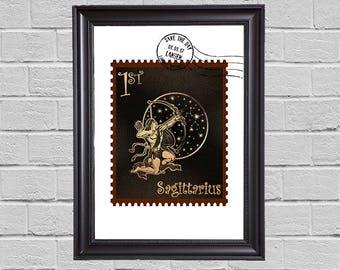 Sagittarius Zodiac - stamps