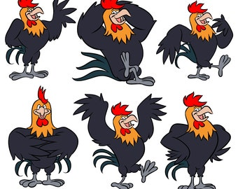 Rooster character cartoon